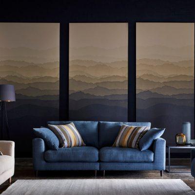 Aries 2 Seater Sofa - Zenith Fabric
