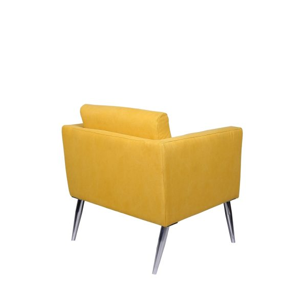 Toucan Square occassional Chair - Yellow Stonewash