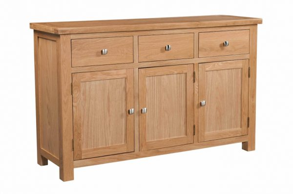 Abbey Oak 3 Door Sideboard