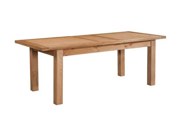 Abbey Oak Dining Table with 2 extensions 180-250 x  90