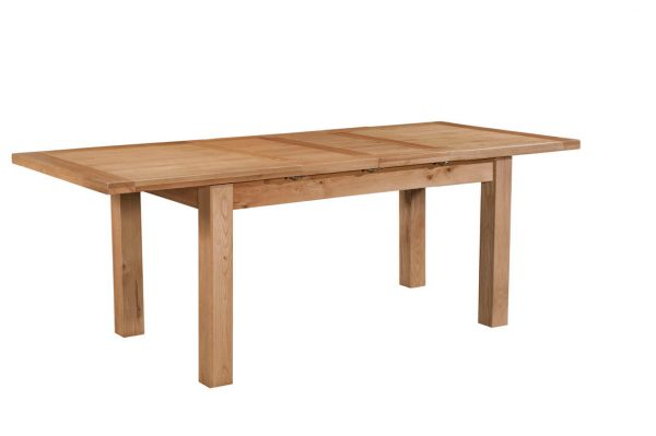 Abbey Oak Dining Table with 2 extensions 132-198 x 90