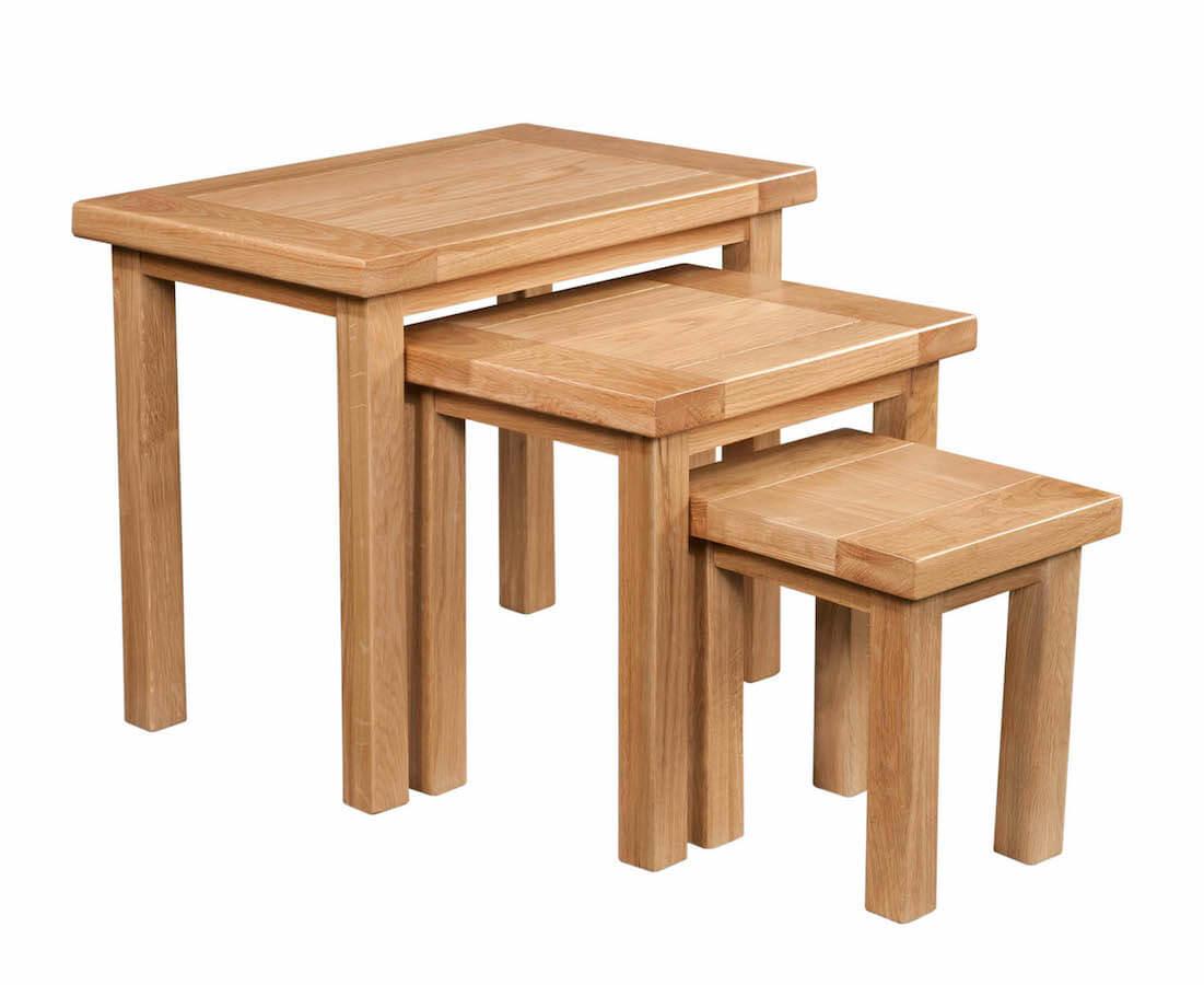 Abbey Oak Nest of Tables