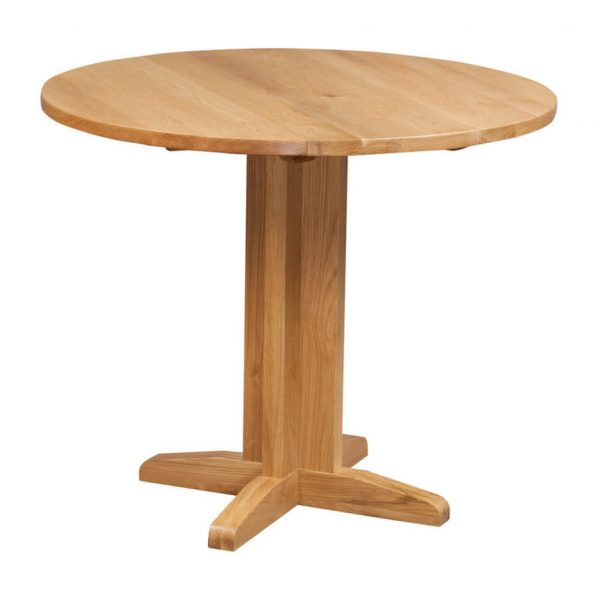 Abbey Oak Round Drop Leaf Table