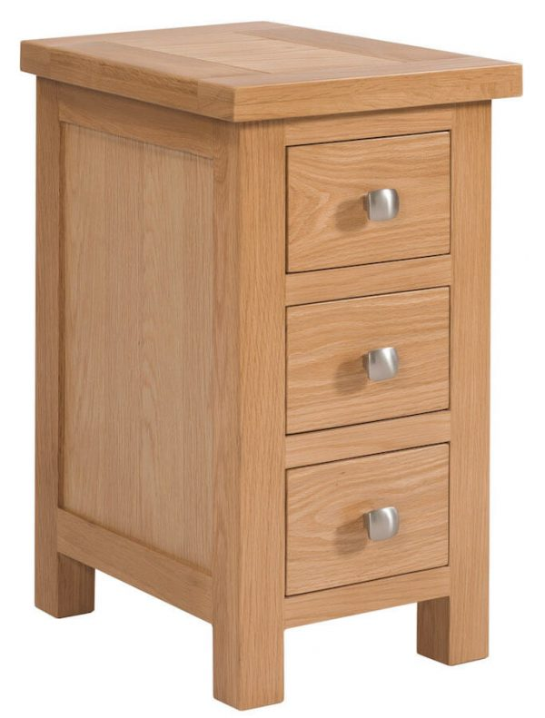 Abbey Oak Small 3 Drawer Bedside