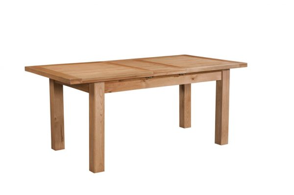 Abbey Oak Dining Table with 1 extension 120-153 x 80