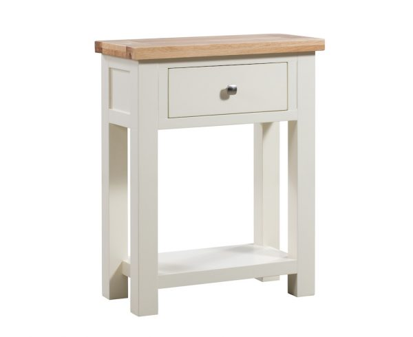 Abbey Painted Ivory 1  Drawer Console Table