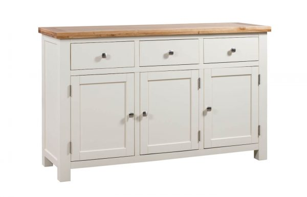 Abbey Painted Ivory 3 Door Sideboard