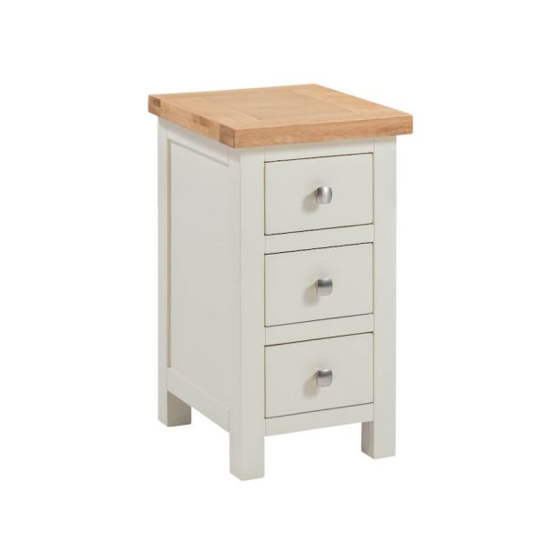 Abbey Painted Ivory Small 3 Drawer Bedside