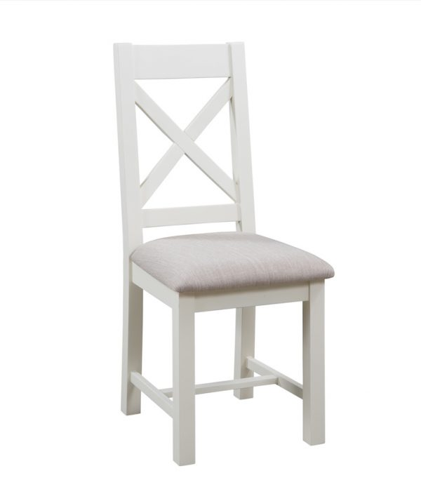 Abbey Painted Ivory Cross Back Dining Chair