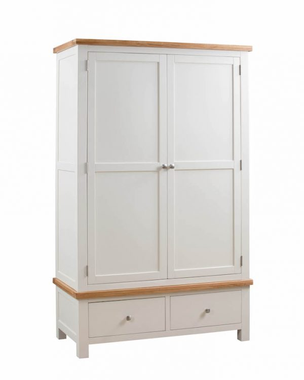 Abbey Painted Ivory Double Wardrobe with 2 Drawers