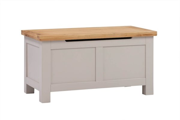 Abbey Painted Putty Blanket Box