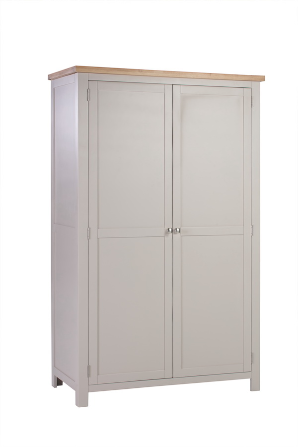 Abbey Painted Putty All Hanging Double Wardrobe
