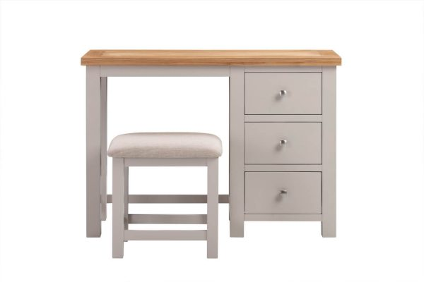 Abbey Painted Putty Dressing Table with Stool