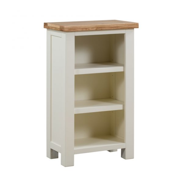 Abbey Painted Ivory Small Bookcase