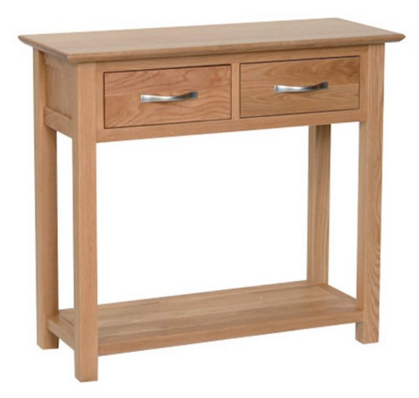 Bryer Oak 2 Drawer Console Table