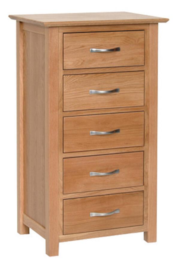 Bryer Oak5 Drawer Wellington