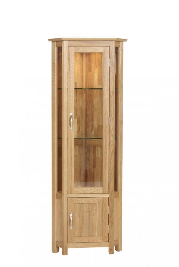 Bryer OakCorner Display Cabinet