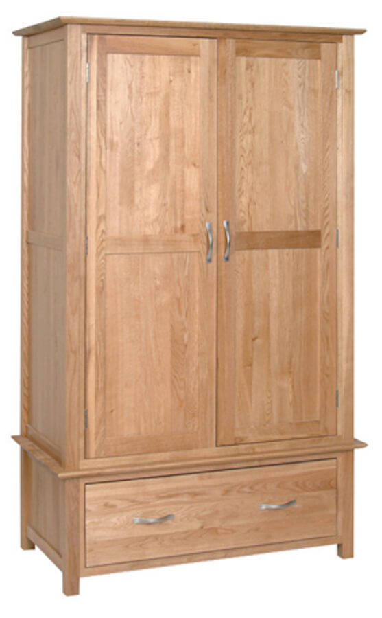 Bryer Oak 1 Drawer Wardrobe