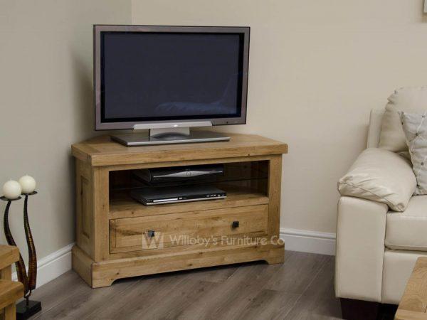 Buffalo Oak Corner TV Unit