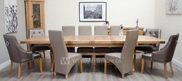 Buffalo Oak X-Leg X-large Extending Table 240cm + (2x50cm)