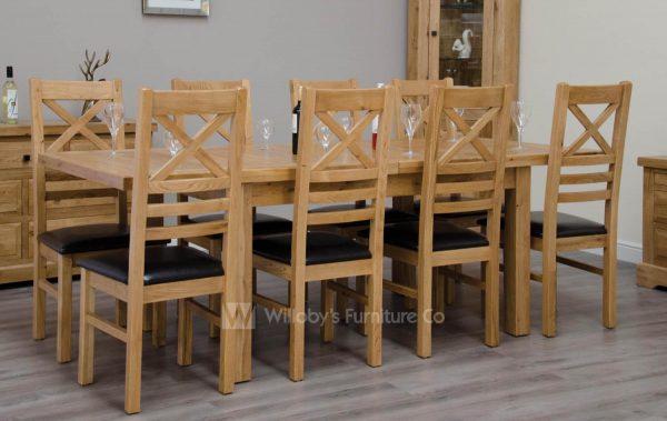 Buffalo Oak Medium Extending Table 150cm x 90cm + (2x40cm)