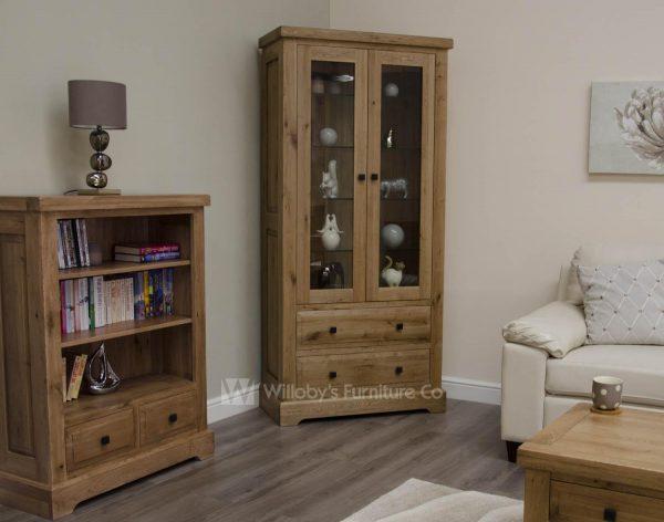 Buffalo Oak Glass Display Cabinet