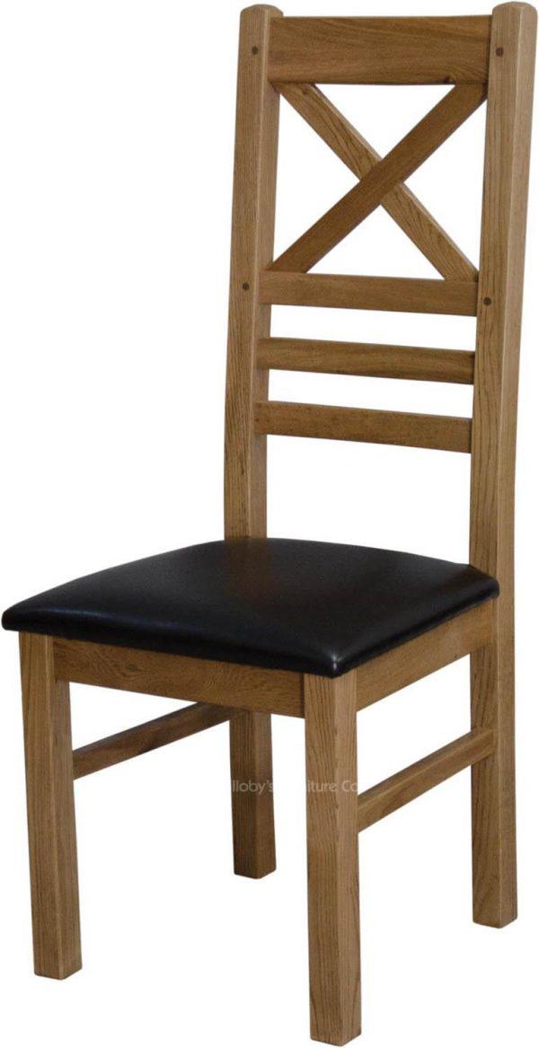 Buffalo Oak Cross Back Chair