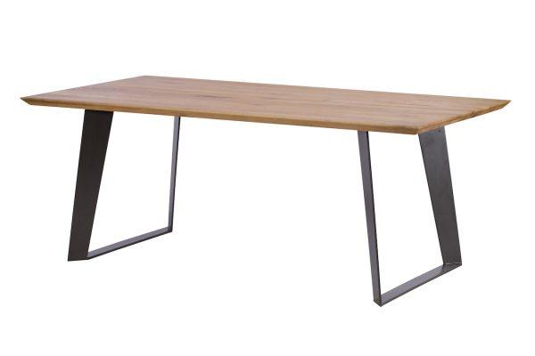 Ealing Light Oak Dining Table with Metal Legs 220cm