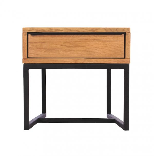 Ealing Light Oak Lamp Table with Drawer