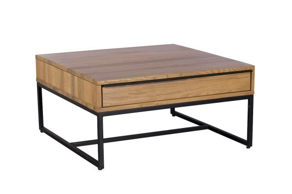Ealing Light Oak Square Coffee Table with Drawers