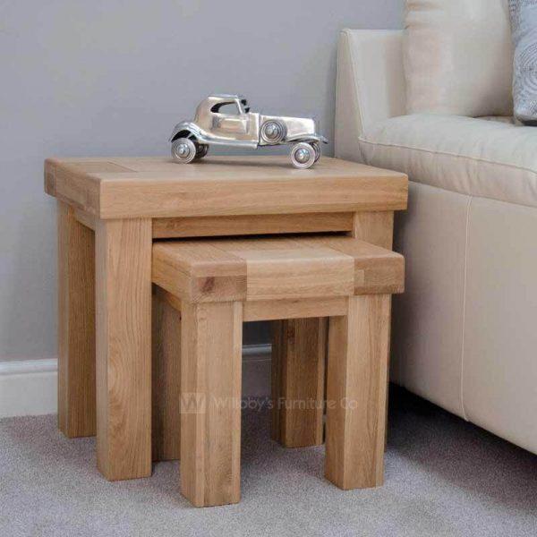 Hippo Oak Nest of Tables
