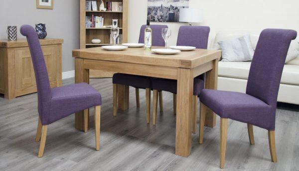 Hippo Oak Small Dining Table (1 Leaf) 120cm - 160cm x 90cm