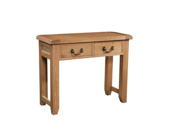 Okeford Oak 2 Drawer Console Table