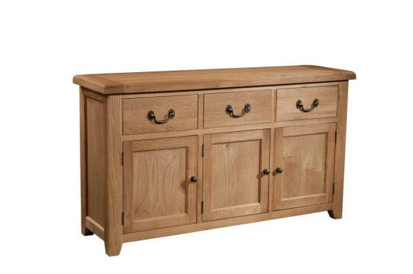 Okeford Oak 3 Door 3 Drawer Sideboard