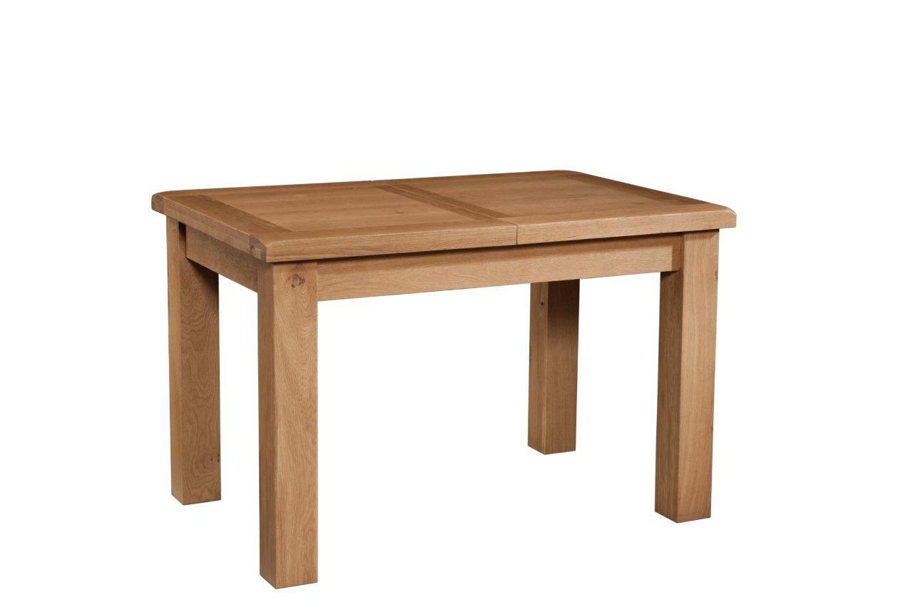 Okeford Oak Dining table Small (1 Leaf) 120-153 x 80 ...