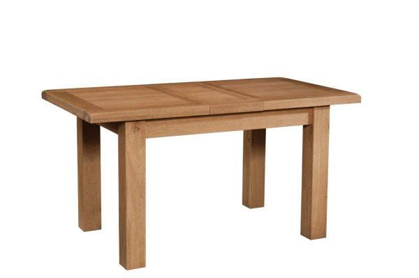 Okeford Oak Dining table Small (1 Leaf) 120-153 x 80