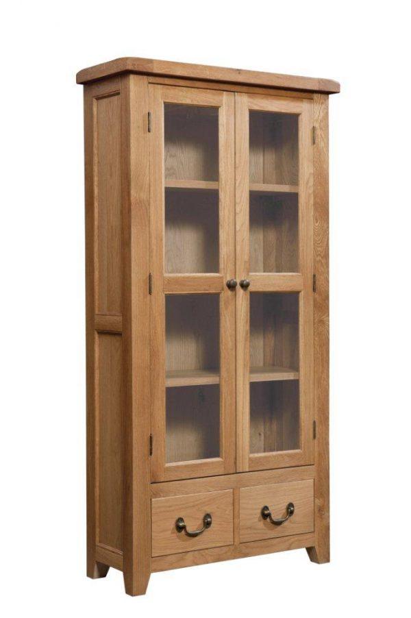 Okeford Oak Display Cabinet