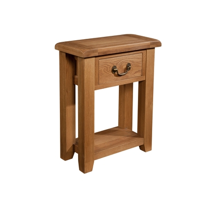 Okeford Oak 1 Drawer Console Table