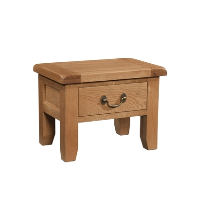 Okeford Oak Side Table with Drawer