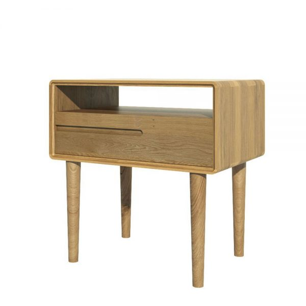 Oslo Oak 1 Drawer Lamp Table