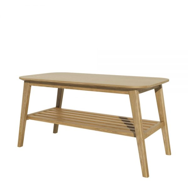 Oslo Oak Coffee Table with Shelf  91cm x 45