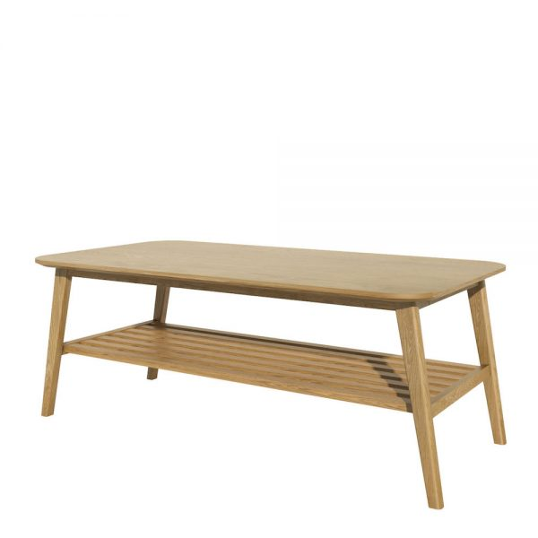 Oslo Oak Coffee Table with Shelf  122 x 60