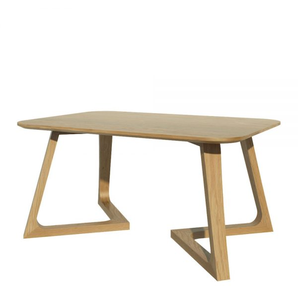 Oslo Oak Coffee Table with V shap Legs
