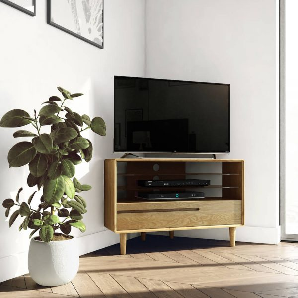 Oslo Oak Corner TV Unit