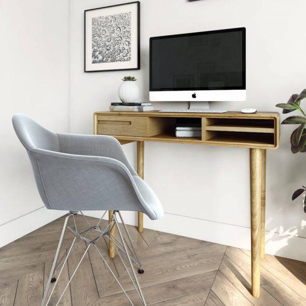 Oslo Oak Small Computer Desk