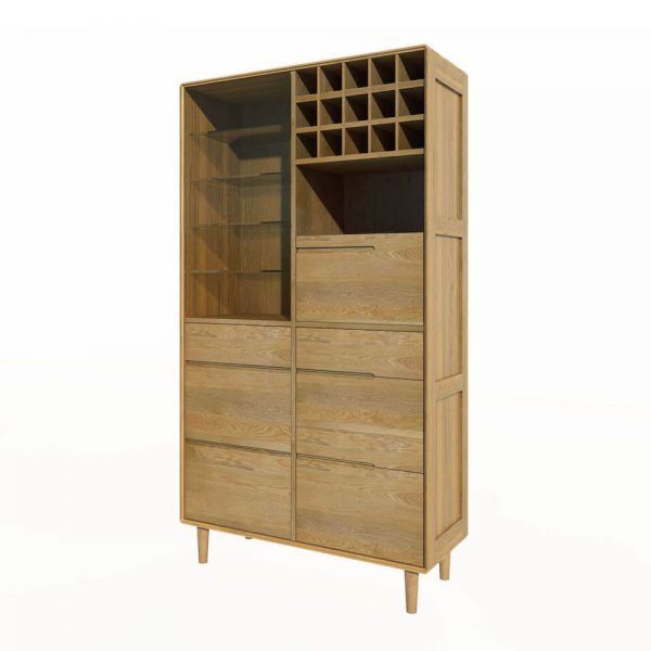 Oslo Oak Drinks Cabinet