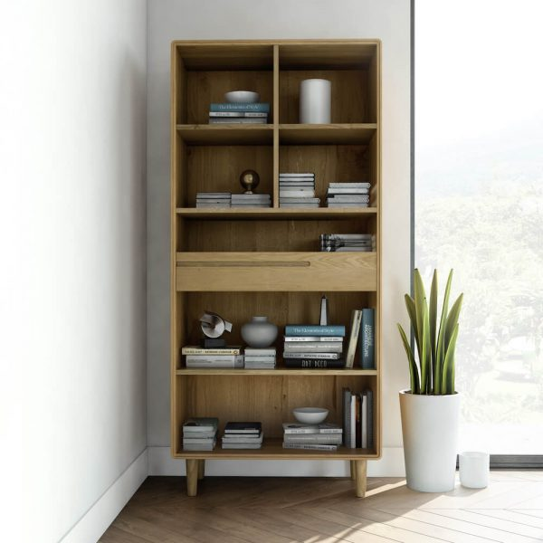 Oslo Oak Large Bookcase