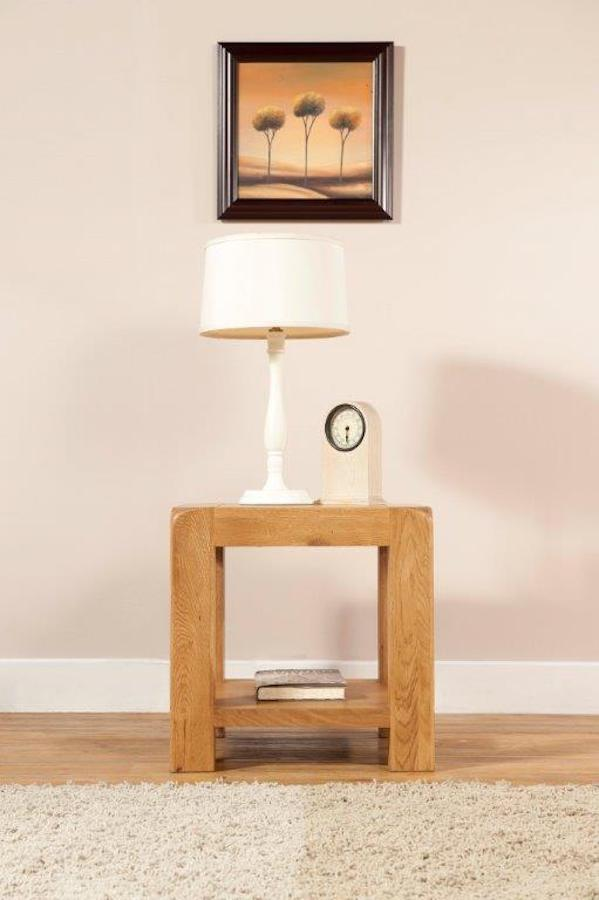 Radford Oak Lamp Table with Shelf