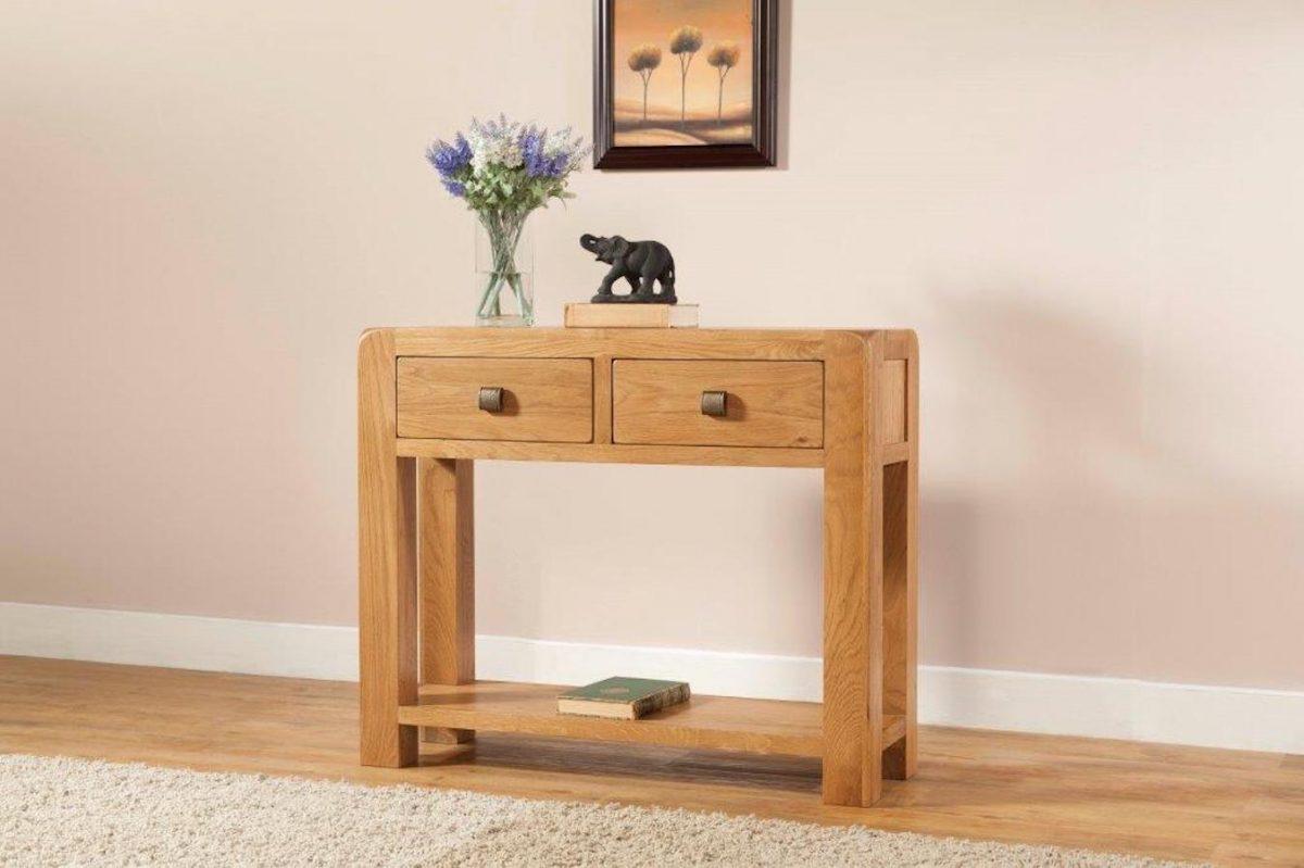 Radford Oak 2 Drawer Console Table