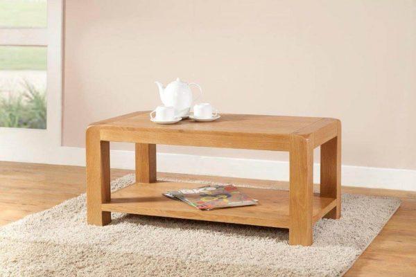 Radford Oak Coffee Table with Shelf